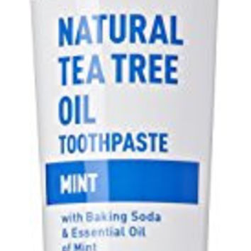 Desert Essence Natural Tea Tree Oil Mint Toothpaste, 6.25 Ounces (Pack of 3)