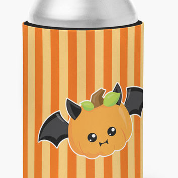 Halloween Pumpkin Bat Can or Bottle Hugger BB6959CC