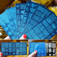 10 Fine Hot DIY Nail Art Image Stamp Stamping Plates Manicure Template Tool