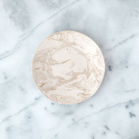Beige Ebru Light Marble Ceramic Salad Plate