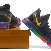 Nike Zoom KD10   Kevin Durant Ⅹ Rainbow  Basketball Shoes