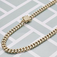 Gold Layered Men Miami Cuban Basic Necklace, by Folks Jewelry
