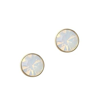 ROSALIE STUDS IN WHITE OPAL