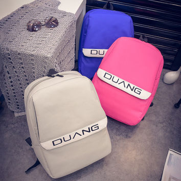 Stylish Casual Back To School College On Sale Comfort Hot Deal Strong Character Canvas Korean Simple Design Couple Backpack [6582280007]