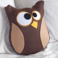 Hooter The Owl Pillow by bedbuggs on Etsy