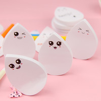1pcs Creative Stationery Sticky Notes Memo Pad Water Drop N Times Smiley Face Paper Sticker Post It Notepad Office Supplies