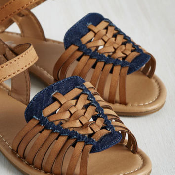 Worldly Wanderings Sandal in Cognac | Mod Retro Vintage Sandals | ModCloth.com