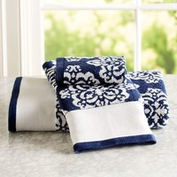 Ikat Medallion Bath Towels