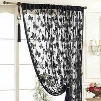 Door Curtain Window Butterfly Pattern Tassel String Room Curtain Divider Scarf = 1957824452