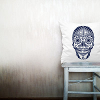 Native skull pillows decorative throw pillows southwestern skull pillows skull throw pillows Christmas pillows 16x16 inches pillows ohtteam