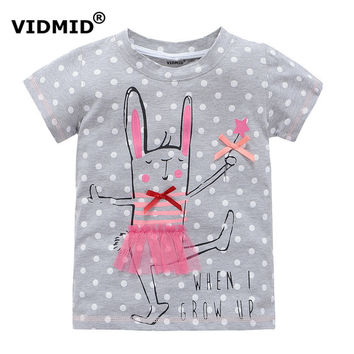 VIDMID 2-10 years baby Girl t-shirt big Girls tees shirts children blouse big sale super quality 100% cotton kids summer clothes