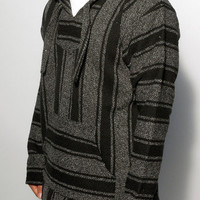 Baja Hoodies - Mexican Baja Hoodie | Black and Gray - The World's Greatest Baja Hoodie Selection | Señor Lopez Poncho | BajaHoodiez.com