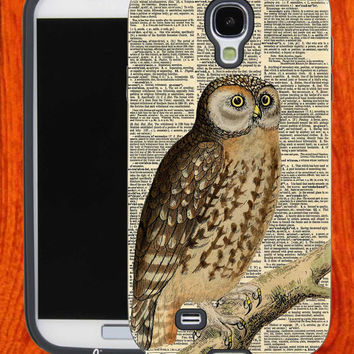 Owl dictionary,Accessories,Case,Cell Phone,iPhone 4/4S,iPhone 5/5S/5C,Samsung Galaxy S3,Samsung Galaxy S4,Rubber,29-11-19-Bn