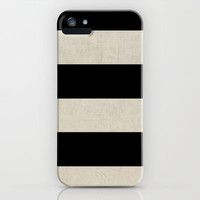 vintage black stripes iPhone & iPod Case by Her Art