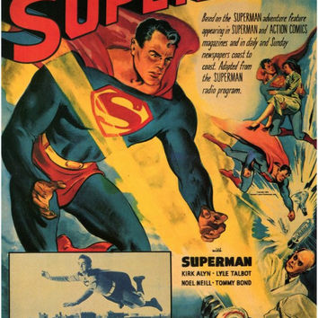 Atom Man Vs. Superman 11x17 Movie Poster (1948)