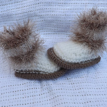 snugg boots shoes booties baby knitting pattern boy or girl newborn to 6 months my own design