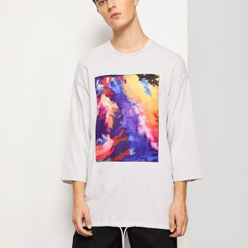 Men Drop Shoulder Graphic Print Tee