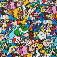 by the yard Nintendo Super Mario cotton fabric- ready to ship