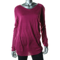 One A Womens Knit Long Sleeves Tunic Sweater