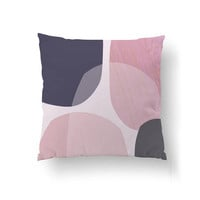 Pink Purple Pillow, Geometric Art, Throw Pillow, Textured Watercolor, Abstract Pattern, Cushion Cover, Home Decor, Decorative Pillow