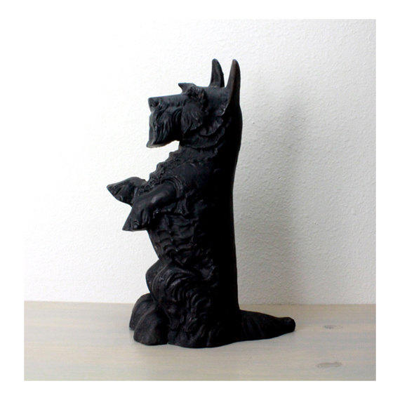 Large vintage scottie door stop cast from emerson house - Cast iron dog doorstop ...