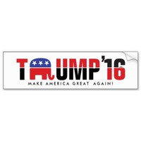 Donald Trump 2016 - Make America Great Again! Car Bumper Sticker