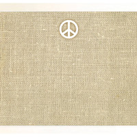 Burlap Bulletin Board, White Peace Sign, Pinboards & Bulletin Boards