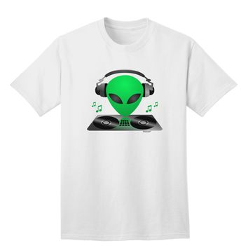 Alien DJ Adult T-Shirt