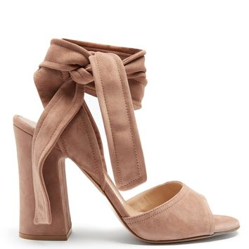 Ankle-tie suede sandals | Gianvito Rossi | MATCHESFASHION.COM US