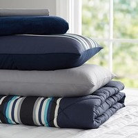 Sideline Stripe Deluxe Value Comforter Set