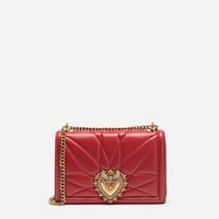 Women's crossbody bags and shoulder bags | Dolce&Gabbana - LARGE DEVOTION BAG IN QUILTED NAPPA LEATHER