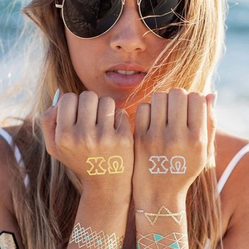 Chi Omega Tattoo Set