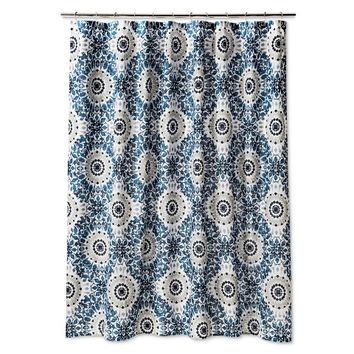 Threshold™ Ikat Medallion Shower Curtain - Blue