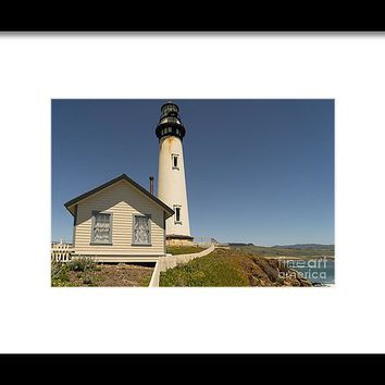 Pigeon Point Lighthouse In The Coast Of California Dsc1296 Framed Print