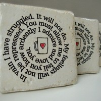 Coaster Coffee Cup Confessions Mr Darcy's proposal to by MeadowTea