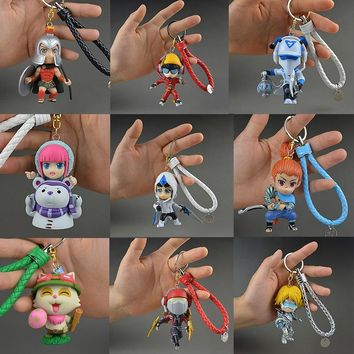 LOL League of Legends figure Pantheon Keychain Decoration Model Toy action-figure Game Heros anime party decor Creative Gift