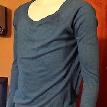 NWOT WOMEN'S MAURICES SIZE SMALLLIGHT BLUE TSHIRT LONG SLEEVE BLOUSE HENLEY