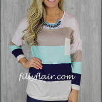 All striped up top with MINT