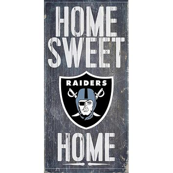 Oakland Raiders Home Sweet Home Premium Wood Sign