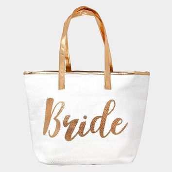 Bride Metallic Tote Bag