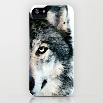 Wolf Art - Timber by Sharon Cummings iPhone & iPod Case by Sharon Cummings