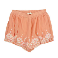 Peach Patterned Shorts from Love Street