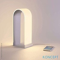 Koncept Mr. N Silver 4 1/2-Inch-W Accent LED Table Lamp