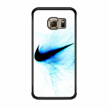 Nike Logo Blue Fire Samsung Galaxy S6 Edge Case