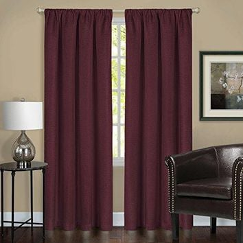 Ben&Jonah Collection Harmony Blackout Window Curtain Panel - 52x84 - Burgundy