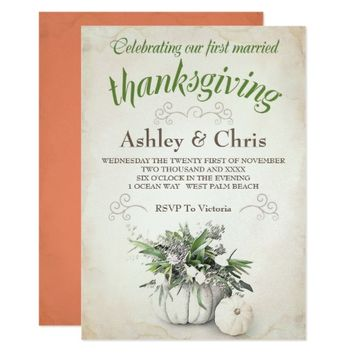 First Married Thanksgiving Invitation