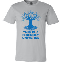 Albert Einstein: This is a Friendly Universe * Tree of Life * T-Shirts (Blue Print)