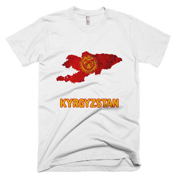 The Kyrgyzstan Flag T-Shirt (mens fitted)