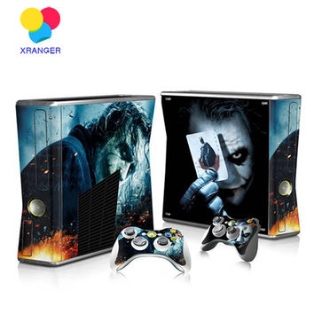 Joker Game Protector Vinyl Sticker for Microsoft Xbox 360 slim and 2 controller Gamepad skins sticker for x box 360 console