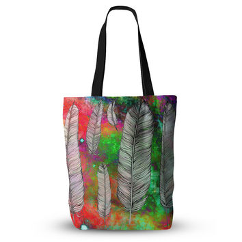 "Suzanne Carter ""Feather"" Rainbow Space Everything Tote Bag"